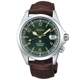 Seiko Prospex Alpinist Men's Brown Leather Strap - Product number 1271865