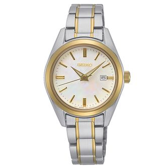 Seiko Quartz Essential Time Ladies' Two Tone Bracelet Watch - Product number 1272578