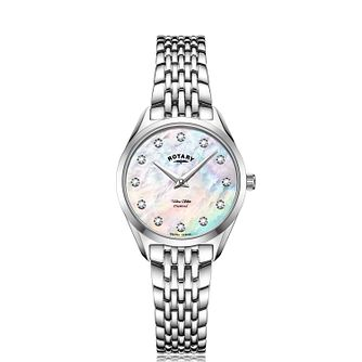 Rotary Ultra Slim Ladies' Stainless Steel Bracelet Watch - Product number 1273159