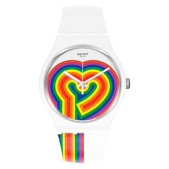 Swatch Beating Love Silicone Strap Watch - Product number 1273728