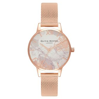 Olivia Burton Abstract Florals Ladies Rose Gold Plated Watch - Product number 1273744