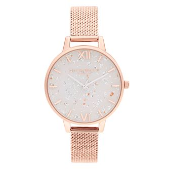 Olivia Burton Celestial Rose Gold Tone Mesh Bracelet Watch - Product number 1273760