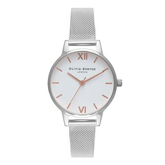 Olivia Burton Silver Tone Metal Plated Bracelet Watch - Product number 1273817