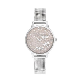 Olivia Burton Dancing Dragonfly Silver Tone Bracelet Watch - Product number 1273914