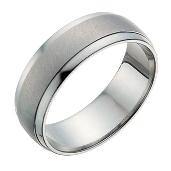 Titanium 7mm Matt & Polish Ring - Product number 1274139