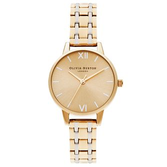 Olivia Burton England Yellow Gold Tone Bracelet Watch - Product number 1274430