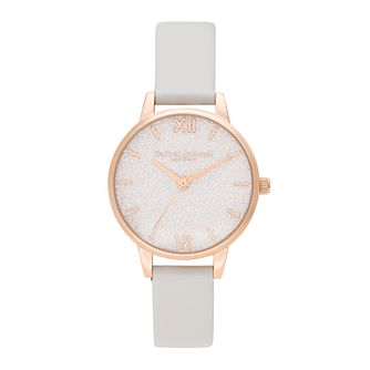 Olivia Burton Glitter Bee Ladies' Pink Vegan Strap Watch - Product number 1274449