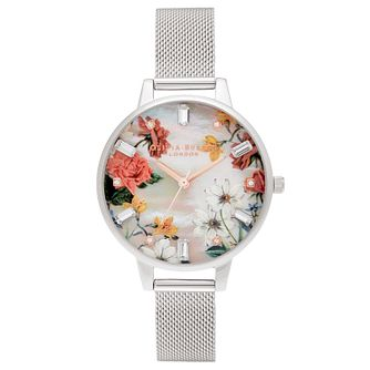 Olivia Burton Sparkle Flower Stainless Steel Bracelet Watch - Product number 1274619