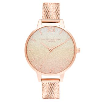 Olivia Burton Sunset Rose Gold Tone Mesh Bracelet Watch - Product number 1274643
