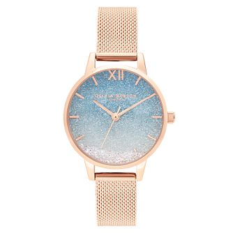 Olivia Burton Wishing Wave Rose Gold Tone Bracelet Watch - Product number 1274678