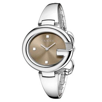 Gucci Guccisima ladies' large stainless steel bangle watch - Product number 1279777