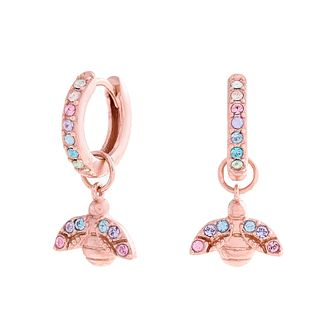 Olivia Burton Rainbow Bee Rose Gold Tone Hoop Earrings - Product number 1279955