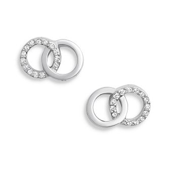 Olivia Burton Bejewelled Interlink Silver Earrings - Product number 1280058