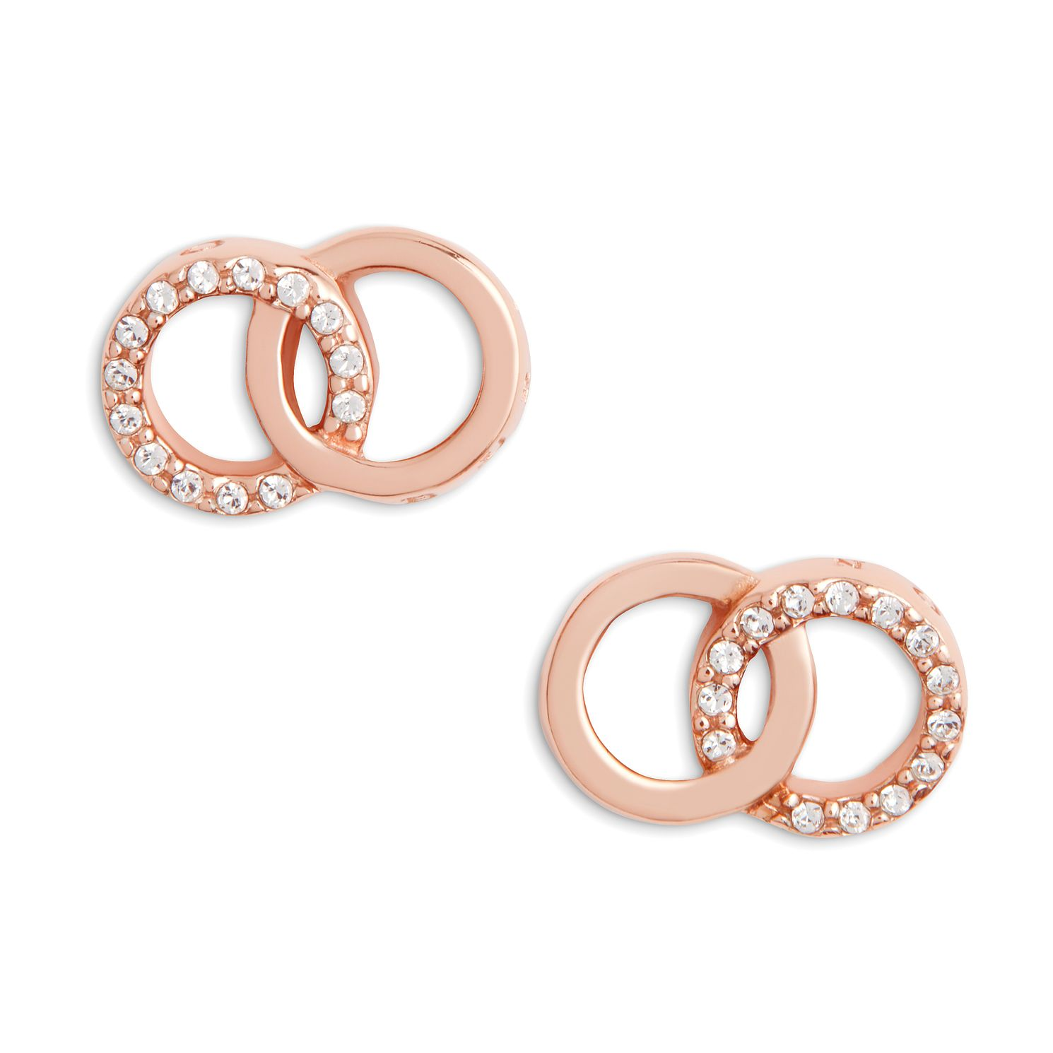 Olivia Burton Bejewelled Interlink Rose Gold Tone Earrings - Product number 1280333