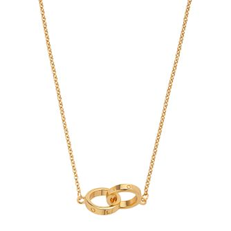 Olivia Burton Classics Yellow Gold Tone Interlink Necklace - Product number 1280678