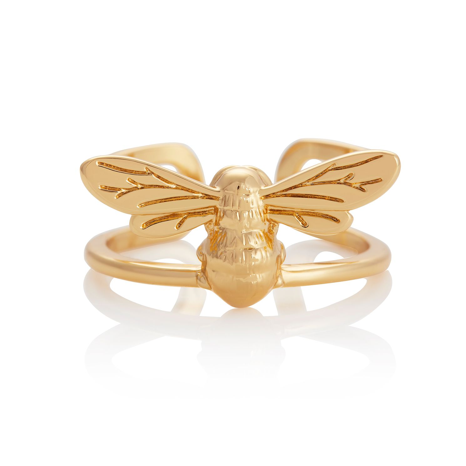 Olivia Burton Lucky Bee Yellow Gold Tone Ring - Product number 1280694