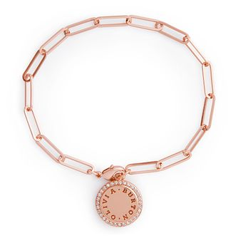 Olivia Burton Classics Crystal Rose Gold Tone Disc Bracelet - Product number 1280945