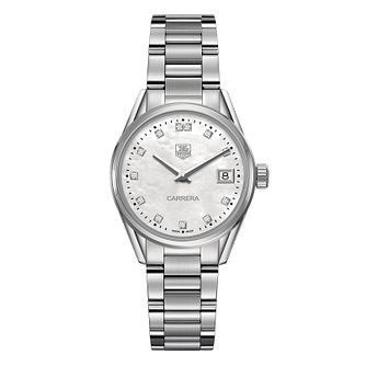 TAG Heuer Carrera Ladies' Stainless Steel Bracelet Watch - Product number 1281062