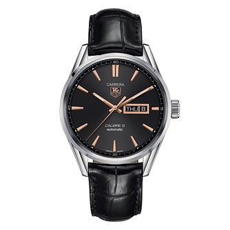 TAG Heuer Carrera Men's Black Leather Strap Watch - Product number 1281089