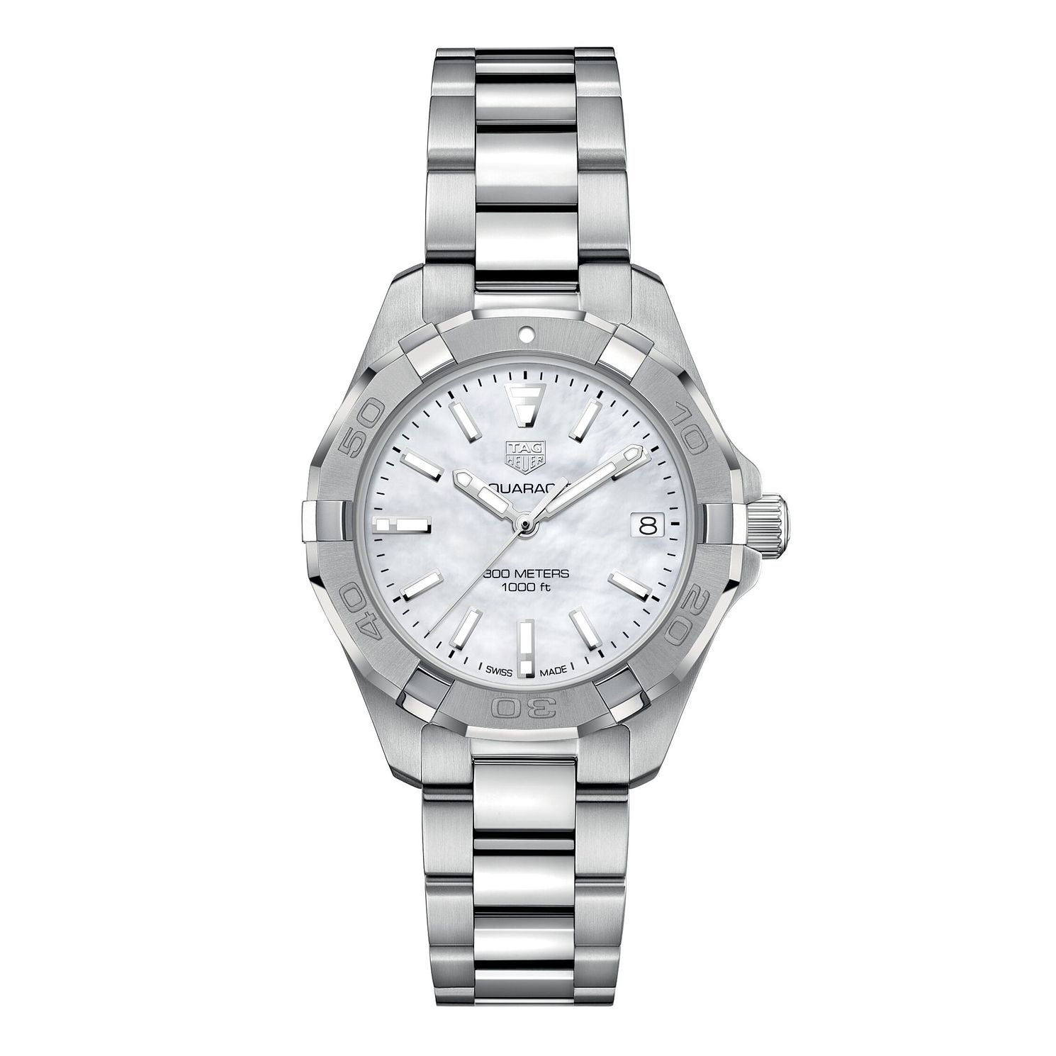 TAG Heuer Aquaracer Ladies' Stainless Steel Bracelet Watch - Product number 1281097