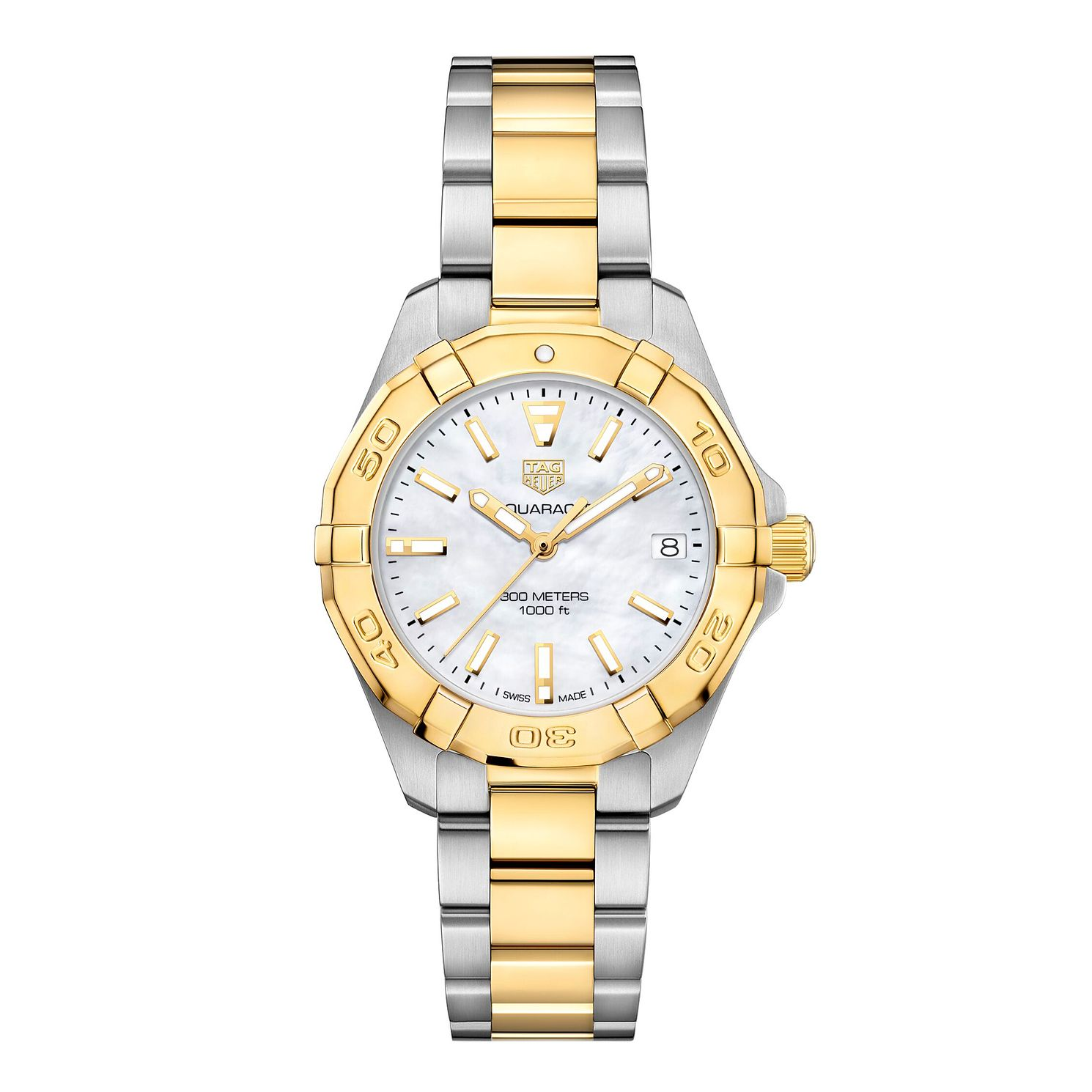 TAG Heuer Aquaracer Ladies' Two Tone Bracelet Watch - Product number 1281100