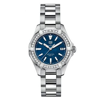 TAG Heuer Aquaracer Ladies' Stainless Steel Bracelet Watch - Product number 1281119