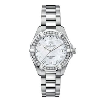 TAG Heuer Aquaracer Ladies' Stainless Steel Bracelet Watch - Product number 1281127