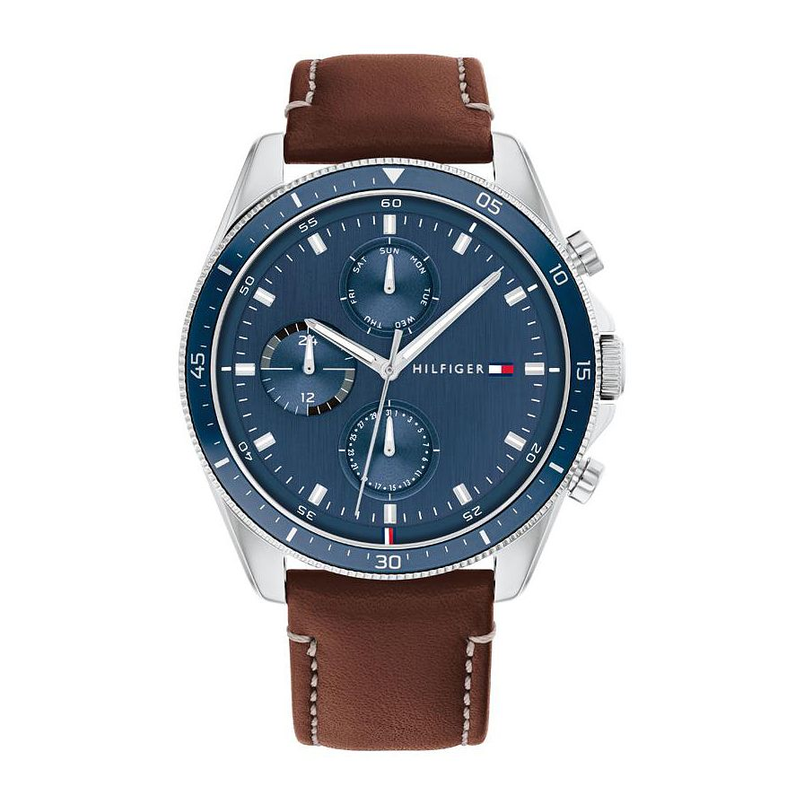 Tommy Hilfiger Parker Men's Brown Leather Strap Watch - Product number 1281364