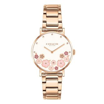 Coach Perry Ladies' Rose Gold Tone Bracelet Watch - Product number 1281380