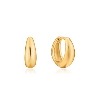 Ania Haie 14ct Yellow Gold Plated Luxe Huggie Hoop Earrings - Product number 1288598