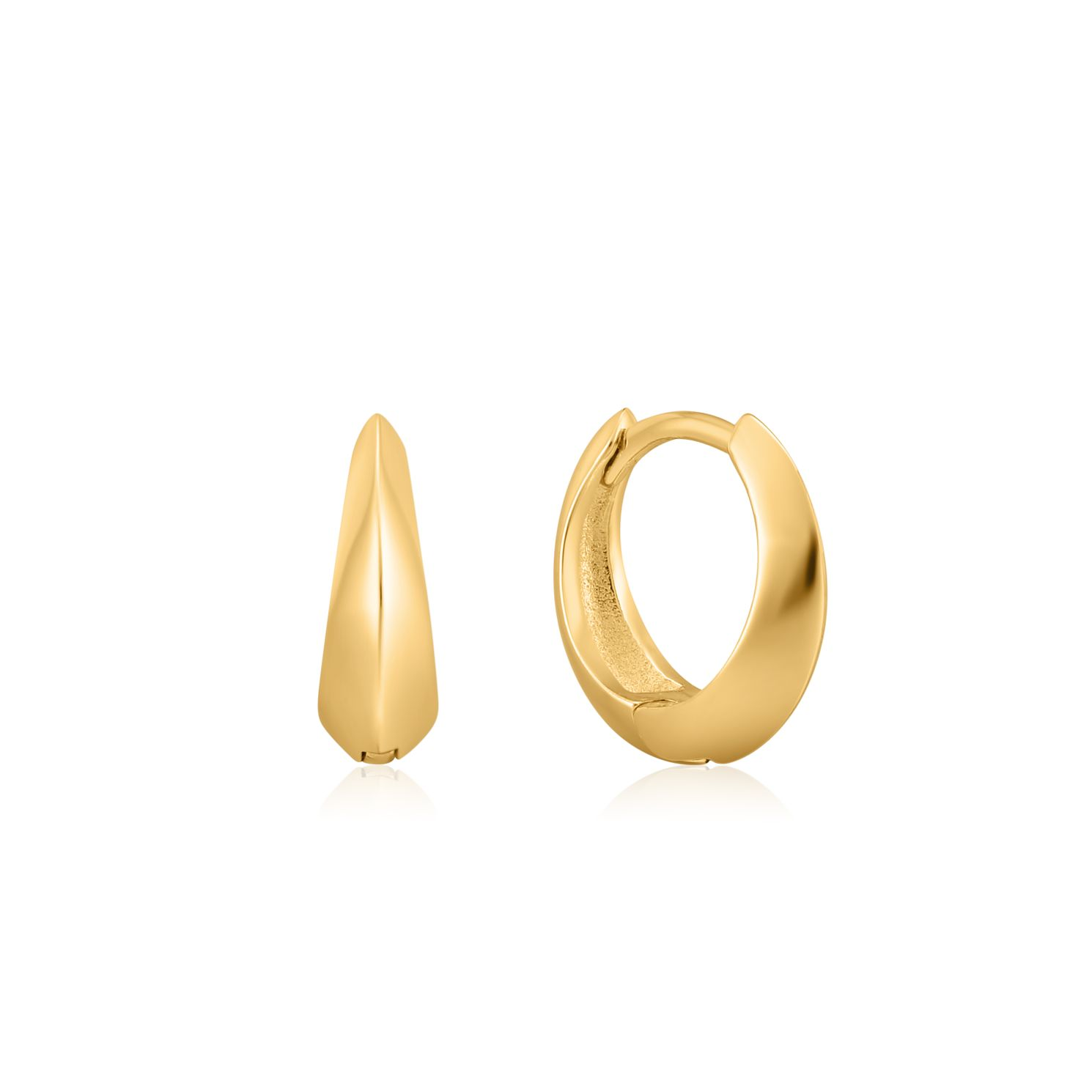 Ania Haie 14ct Yellow Gold Plated Spike Small Hoop Earrings - Product number 1288628