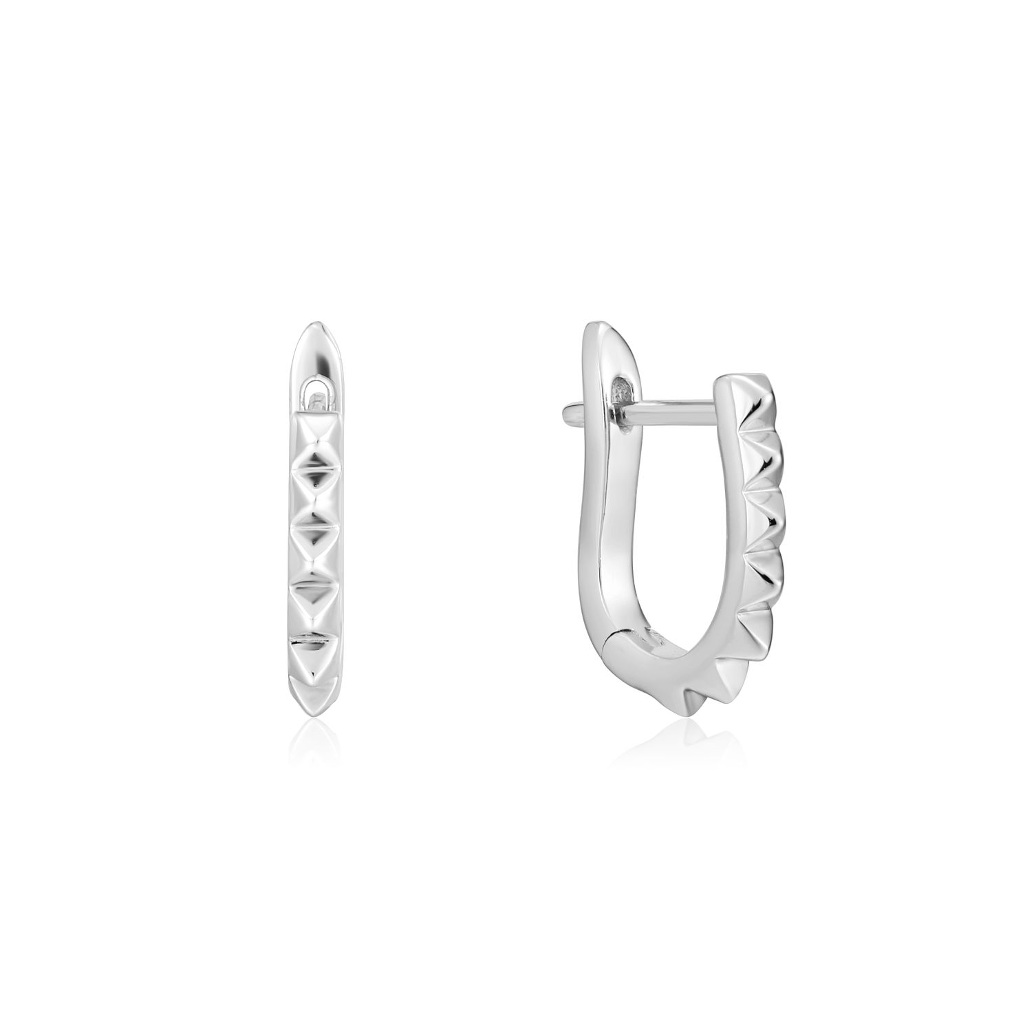 Ania Haie Sterling Silver Spike Huggie Hoop Earrings - Product number 1288652