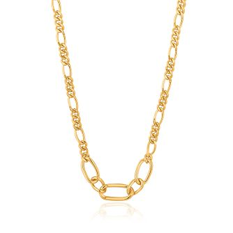 Ania Haie 14ct Yellow Gold Plated Figaro Chain Necklace - Product number 1288814