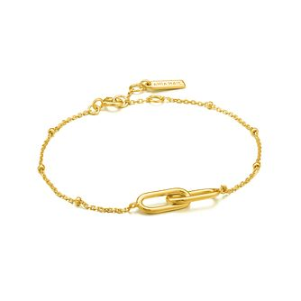 Ania Haie 14ct Yellow Gold Plated Beaded Chain Link Bracelet - Product number 1288857