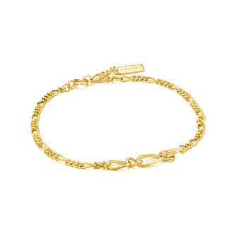 Ania Haie 14ct Yellow Gold Plated Figaro Chain Bracelet - Product number 1288873