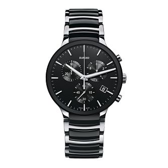 Rado Centrix men's steel & black ceramic bracelet watch - Product number 1297473
