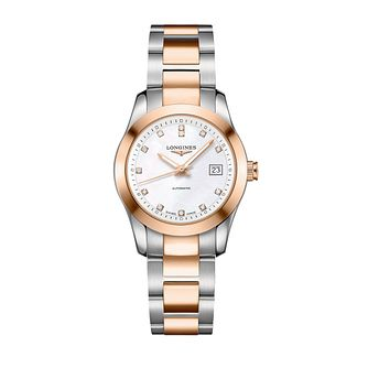 Longines Conquest Ladies' Diamond Two Colour Bracelet Watch - Product number 1298135