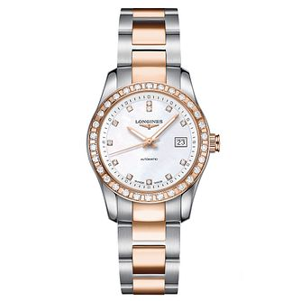 Longines Conquest Ladies' Diamond Two Colour Bracelet Watch - Product number 1298143