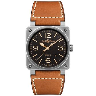 Bell & Ross Golden Heritage Men's Brown Strap Watch - Product number 1298453