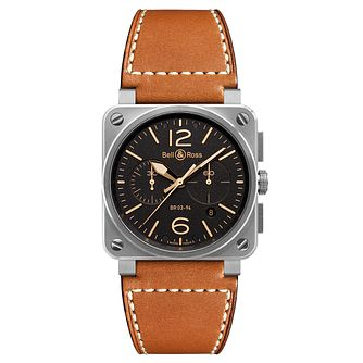 Bell & Ross Golden Heritage men's chronograph strap watch - Product number 1298488
