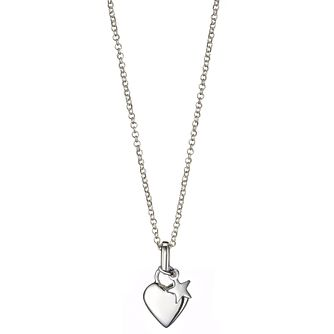Molly Brown Sterling Silver Heart & Star Pendant - Product number 1298690