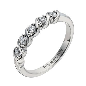 Palladium 1/4 Carat Forever Diamond Ring - Product number 1299859