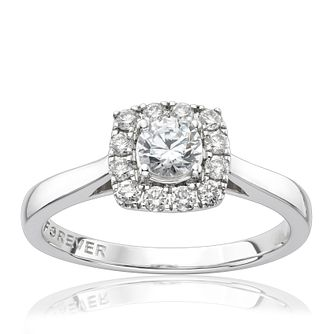 The Forever Diamond 18ct White Gold 0.50ct Total Ring - Product number 1300776