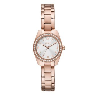DKNY Nolita Ladies' Rose Gold Tone Bracelet Watch - Product number 1302620