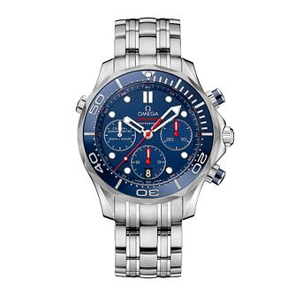 Omega Seamaster Diver Men's Stainless Steel Bracelet Watch - Product number 1314262
