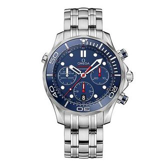 Omega Seamaster Diver Men's Stainless Steel Bracelet Watch - Product number 1314289
