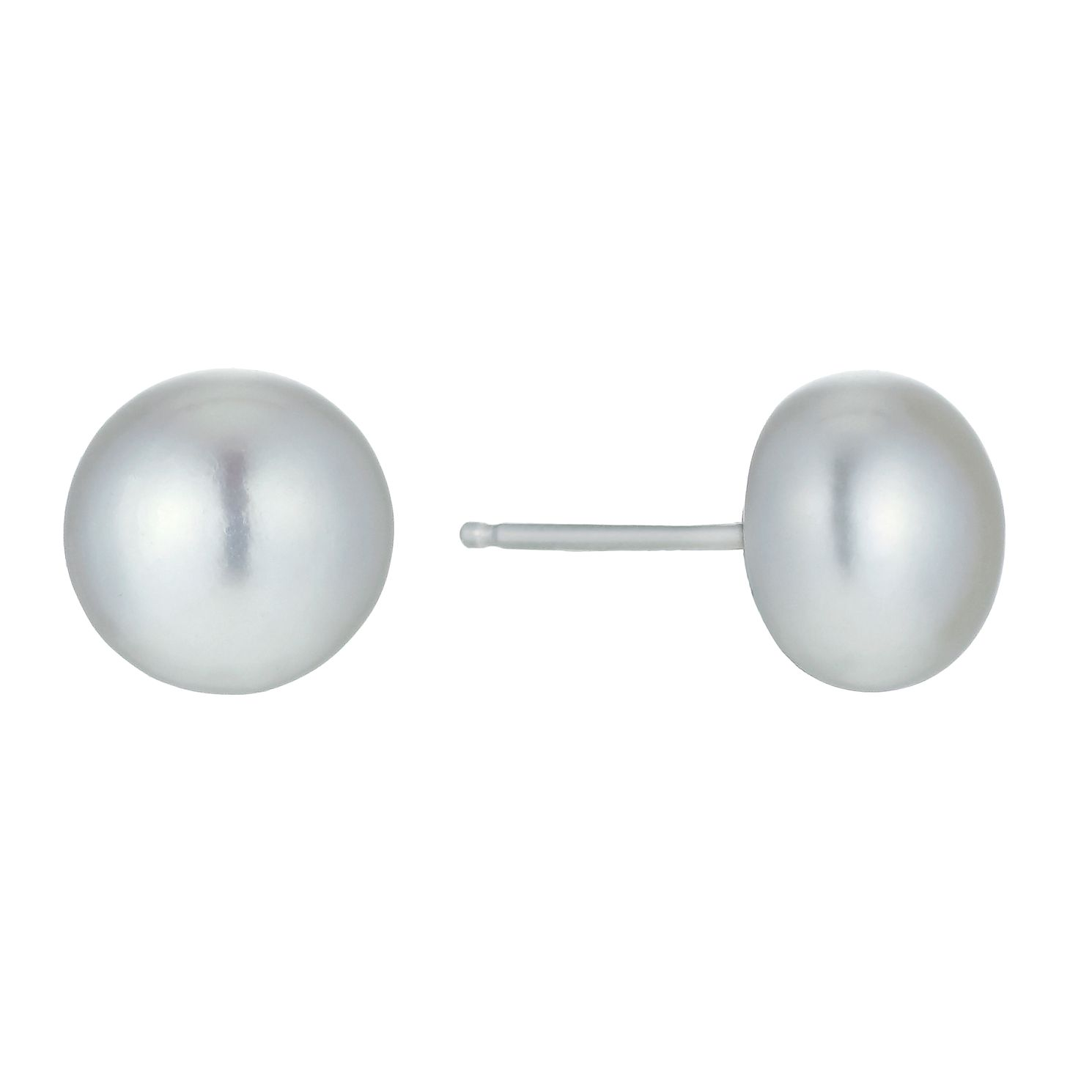 Sterling Silver Cultured Freshwater Pearl 8mm Stud Earrings - Product number 1317695
