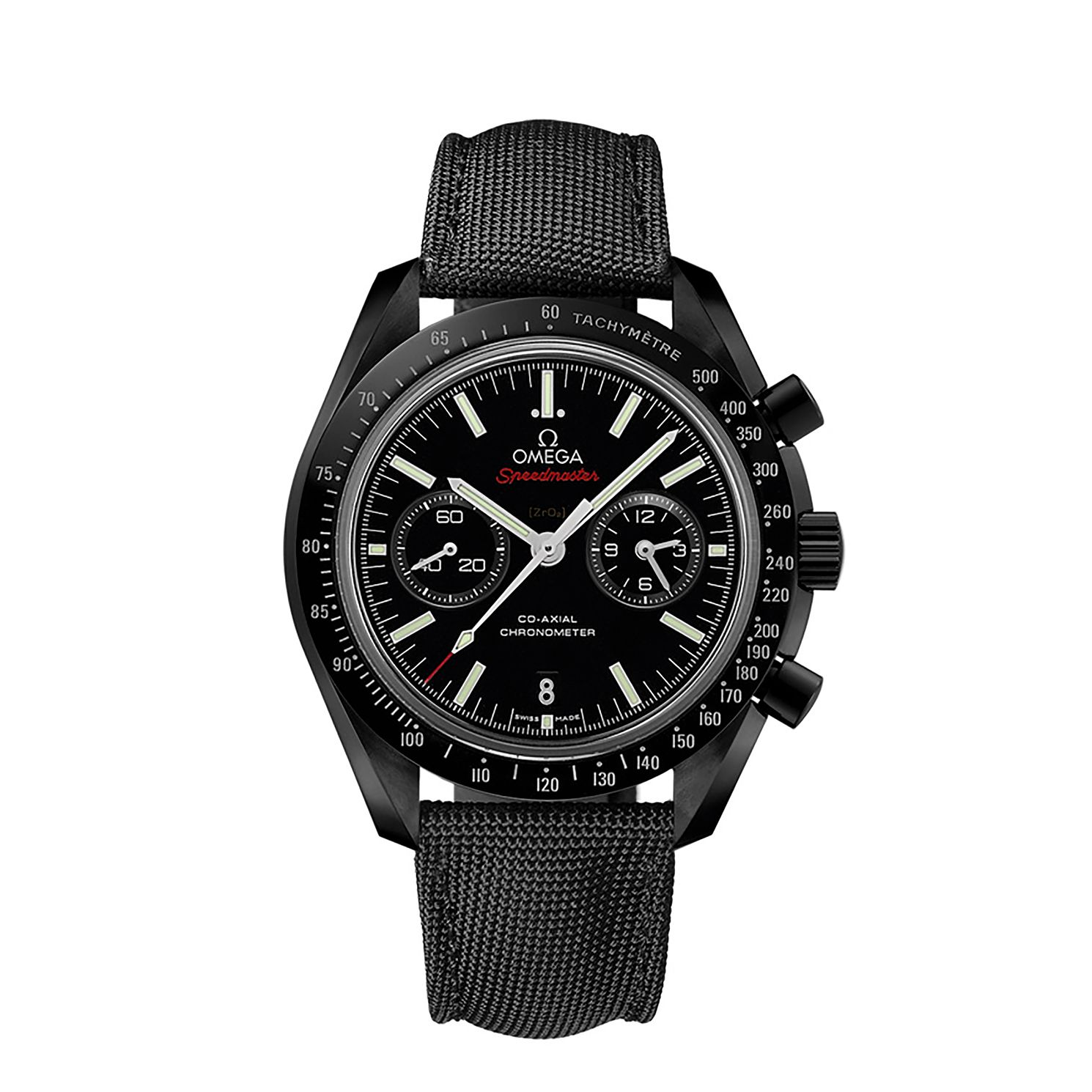 Omega Speedmaster Moonwatch Men's Black Fabric Strap Watch - Product number 1318713