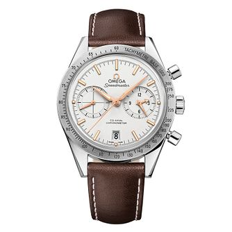 Omega Speedmaster '57 Men's Brown Leather Strap Watch - Product number 1318764