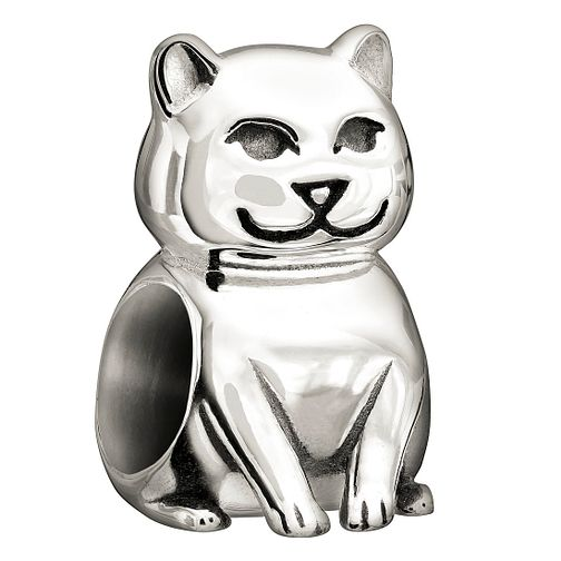 Chamilia sterling silver cat bead - Product number 1348817